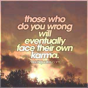 quotes about stealing and karma - wrong
